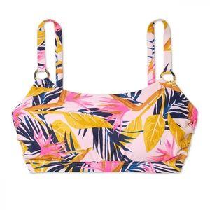 NWT Xhilaration Ring Bralette Bikini Top 20W Pink